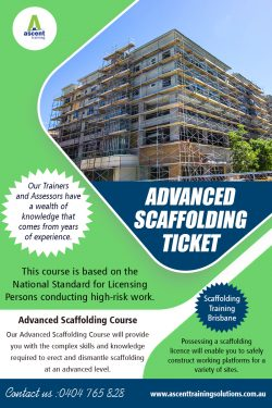 Advanced Scaffolding Ticket