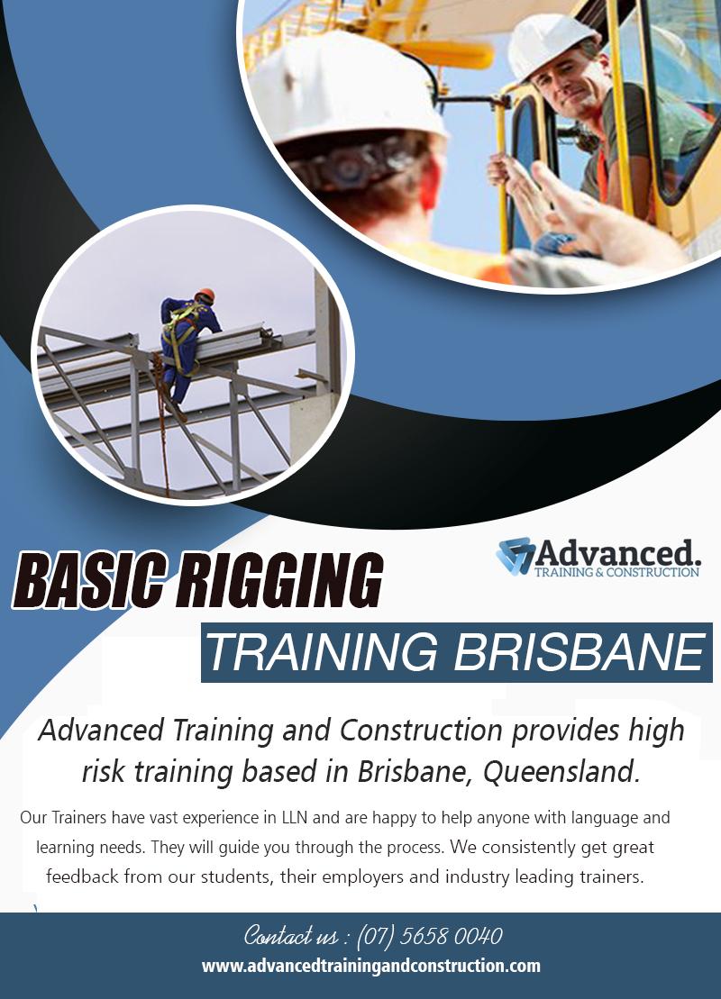 Basic Rigging Training Brisbane | Call – 0756580040 | advancedtrainingandconstruction.com