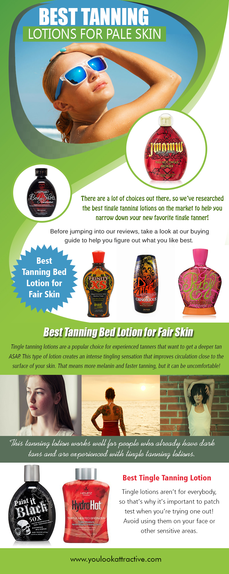 Best Tanning Lotions for Pale Skin