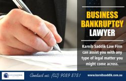 Business Bankruptcy Lawyer | Call-0290898781 | karnibsaddik.com.au