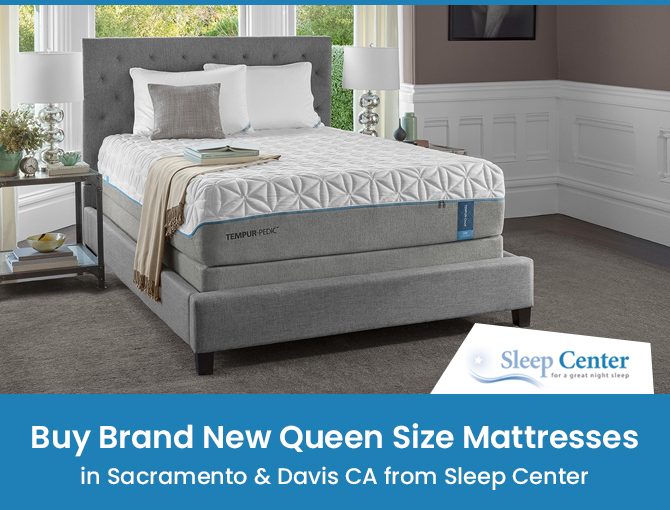 Buy Brand New Queen Size Mattresses in Sacramento & Davis CA from Sleep Center