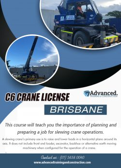 C6 Crane License Brisbane | Call – 0756580040 | advancedtrainingandconstruction.com