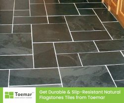 Get Durable & Slip-Resistant Natural Flagstones Tiles from Toemar