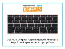 Get 100% Original Apple MacBook Keyboard keys from Replacement Laptop Keys