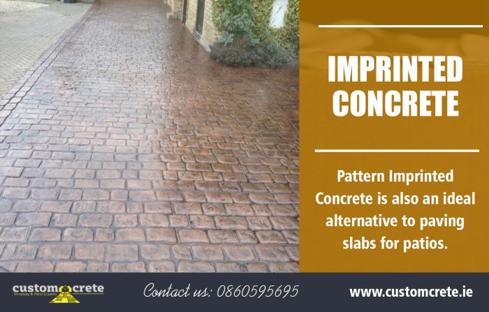 Imprinted Concrete | Call us 0860595695 | customcrete.ie