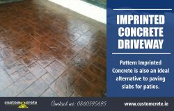 Imprinted Concrete Driveway | Call us 0860595695 | customcrete.ie