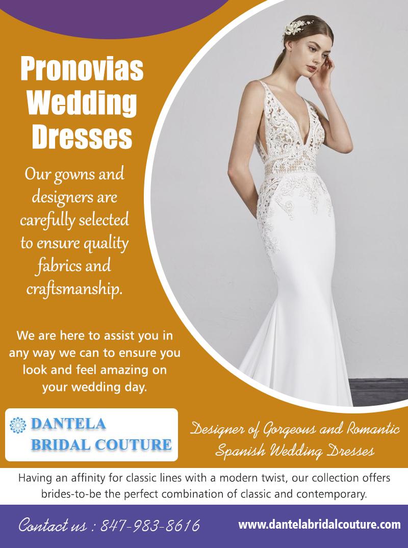 Pronovias Wedding Dresses |8479838616| dantelabridalcouture.com