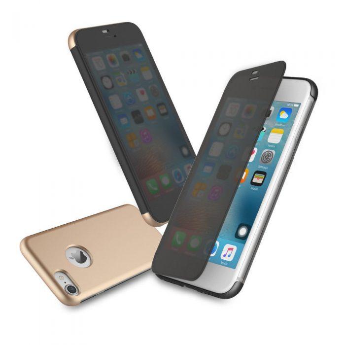 Smart Touchable Flip Transparent View Window Case Cover For iphone 7/7 Plus
