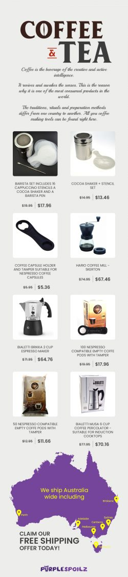 Shop a Wide Range of Coffee & Tea Accessories Online from PurpleSpoilz