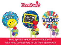 Shop Special Helium Welcome Balloons with Next Day Delivery in UK from BloonAway