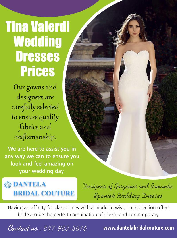 Tina Valerdi Wedding Dresses Prices |8479838616| dantelabridalcouture.com