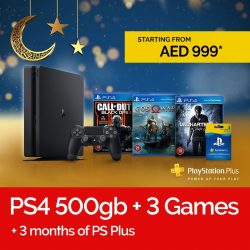 Virgin MegaStore Ramadan Discount – PS4 500Gb + 3 Games