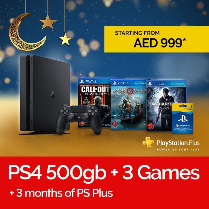 Virgin MegaStore Ramadan Discount – PS4 500Gb + 3 Games