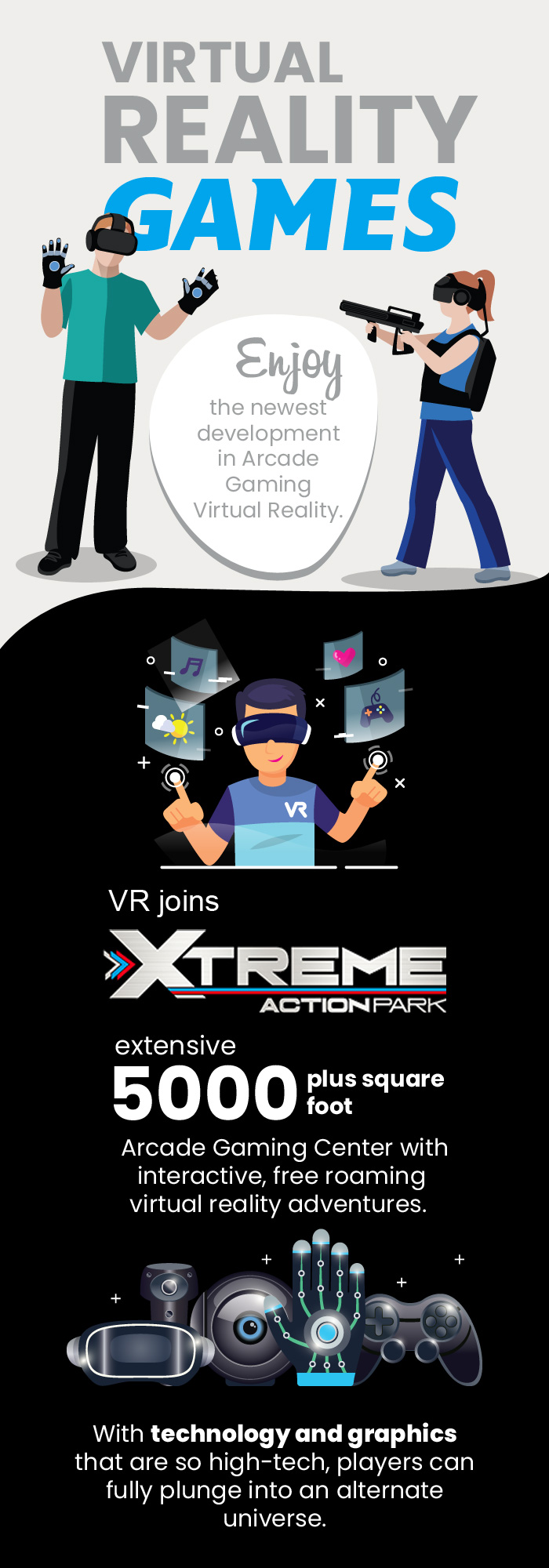 Virtual Reality Gaming at Xtreme Action Park
