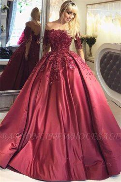 Elegante Abendkleider Mit Ärmel | Spitze Abendmoden Günstig Online