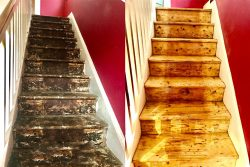 Stairs Sanding & Refinishing