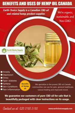Benefits and Uses of Hemp Oil Canada | earthchoicesupply.com | Call – 416-922-7238