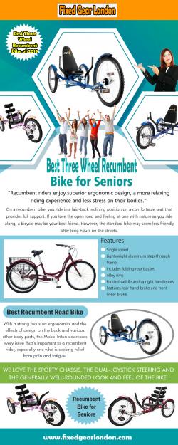Best Three Wheel Recumbent Bike for Seniors 2019