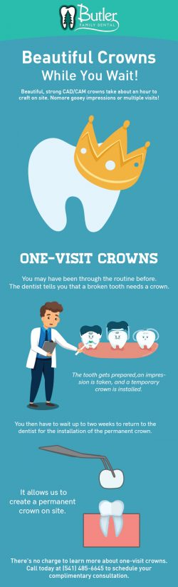 Visit for Butler Family Dental for Natural-Looking Crowns in Eugene, OR
