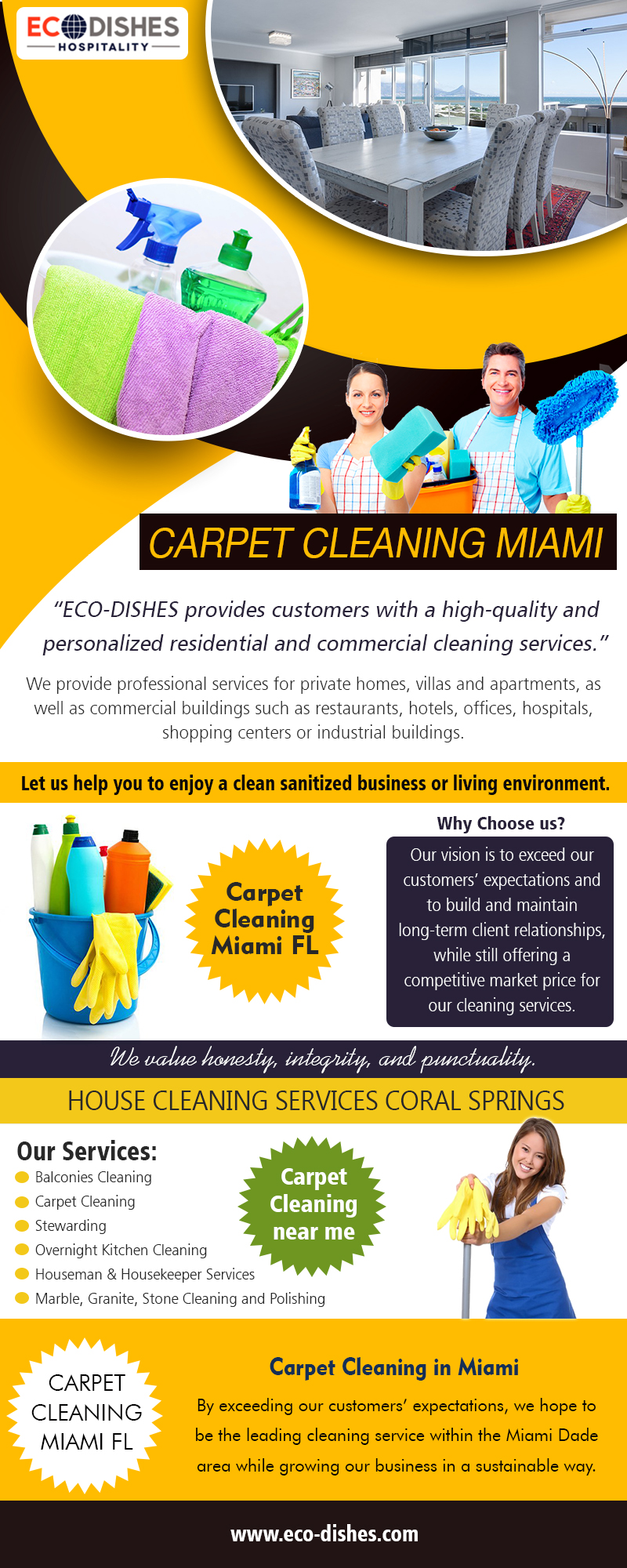 Carpet Cleaning Miami | 3055466638 | eco-dishes.com