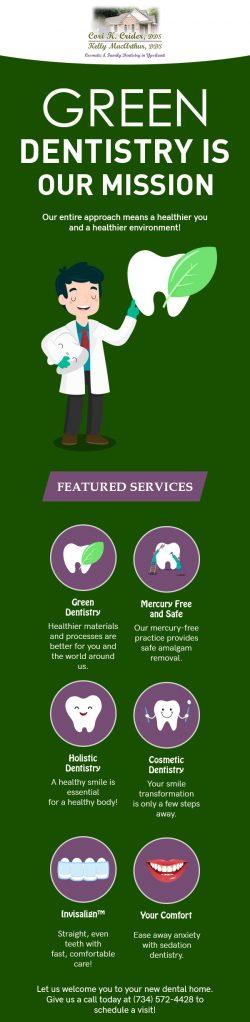 Visit Cori K. Crider, DDS for Green Dentistry in Ypsilanti, MI