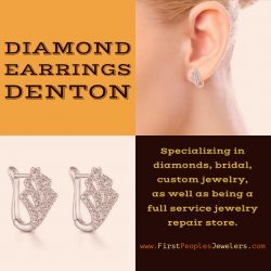 Diamond Earrings Denton | Call – 940 383-3032 | FirstPeoplesJewelers.com