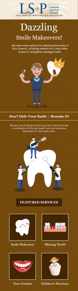 Contact Dr. Leaman, Setnicar, & Piacsek to Obtain the Smile of Your Dreams
