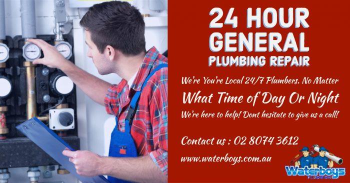 24 Hour General Plumbing Repair