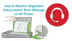 How to resolve 'Alignment Unsuccessful' Error Message on HP Printer