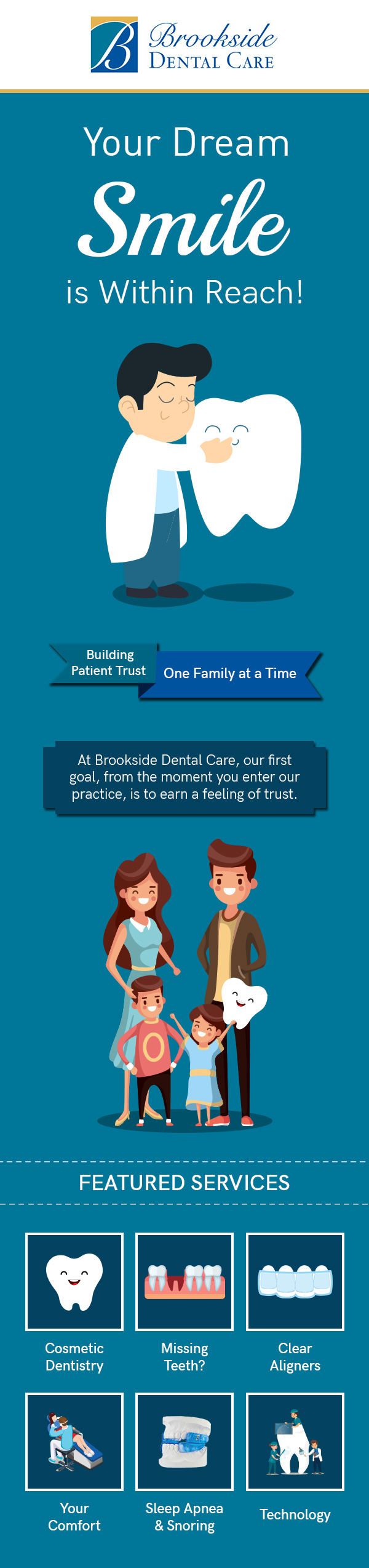 Visit Brookside Dental Care to Achieve the Smile of Your Dream