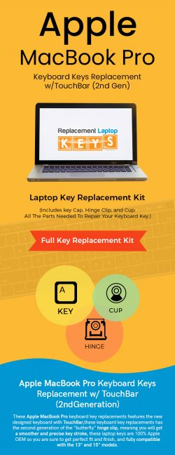 Shop 2nd Gen Apple MacBook Pro Keyboard Keys Replacement w/TouchBar