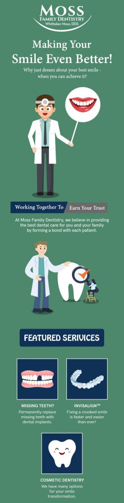 Make Your Smile Better with Exceptional Dental Services from Moss Family Dentistry