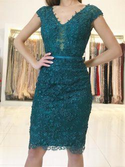 Elegante Grüne Cocktailkleider Kurz | Abendkleider Mit Spitze