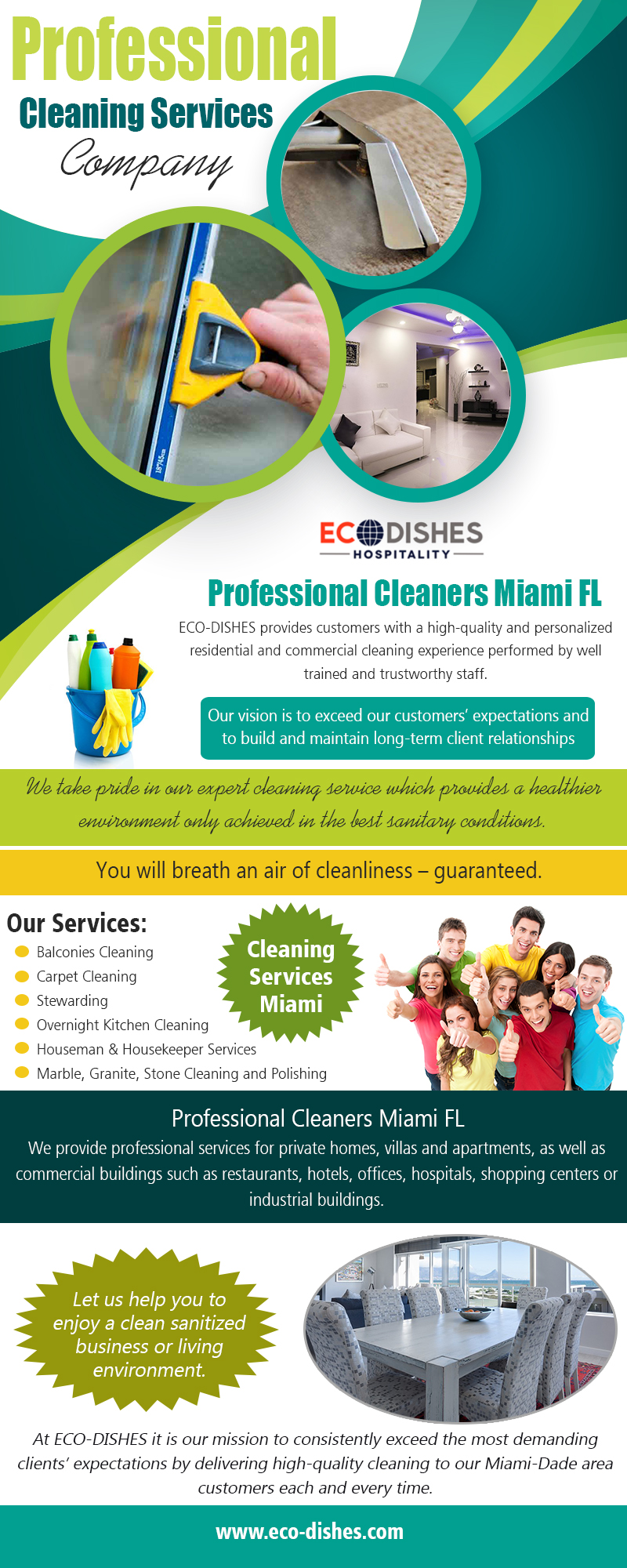 Professional Cleaning Service Company | 3055466638 | eco-dishes.com
