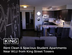 Rent Clean & Spacious Student Apartments Near WLU from King Street Towers