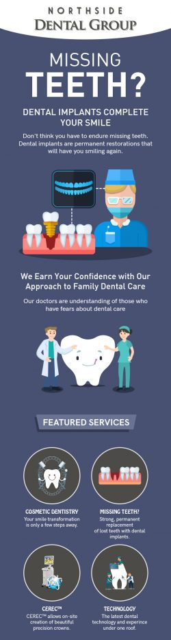 Replace Missing Teeth with Dental Implants from Northside Dental Group