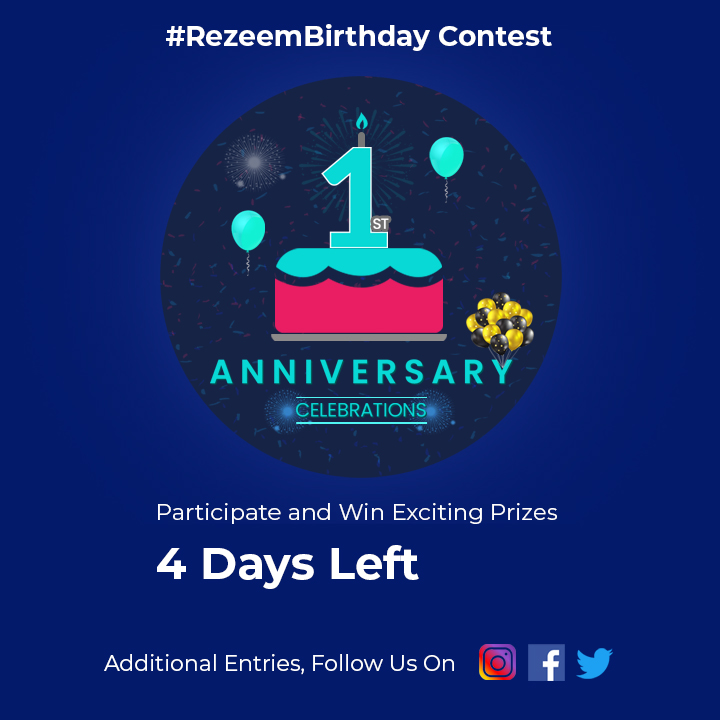 Rezeem #Contest Time – 4 Days Left to Participate & Win