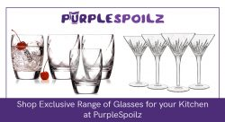 Shop Exclusive Range of Glasses for your Kitchen at PurpleSpoilz