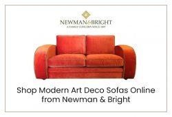 Shop Modern Art Deco Sofas Online from Newman & Bright