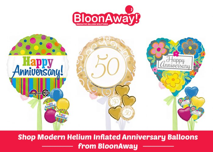 Shop Modern Helium Inflated Anniversary Balloons from BloonAway