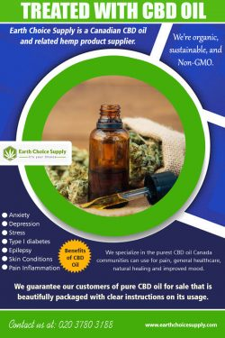 Treated with CBD Oil | earthchoicesupply.com | Call – 416-922-7238
