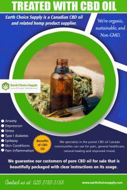 Treated with CBD Oil | earthchoicesupply.com | Call – 416-922-7238