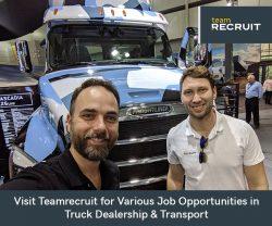 Visit Teamrecruit for Various Job Opportunities in Truck Dealership & Transport