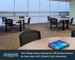Visit Village Suites Oshawa for Off-Campus Rooms for Rent near UOIT (Ontario Tech University)