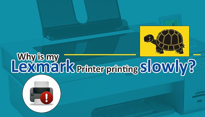 Why is my Lexmark Printer printing slowly?