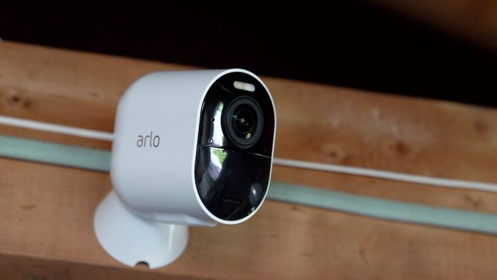 Steps for viewing the status icons of the Arlo Camera