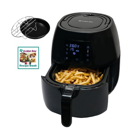 Avalon Bay 3.7 Qt. Capacity Oil Free Air Fryer, Black (Certified Refurbished) – Walmart.com