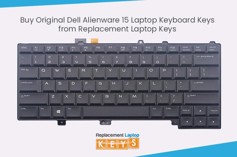 Buy Original Dell Alienware 15 Laptop Keyboard Keys from Replacement Laptop Keys