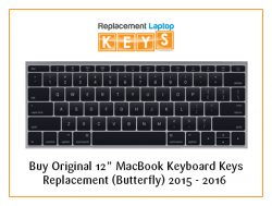 "Buy Original 12"" MacBook Keyboard Keys Replacement (Butterfly) 2015 – 2016"