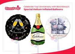 Celebrate Your Anniversary with BloonAway's Special Helium Inflated Balloons